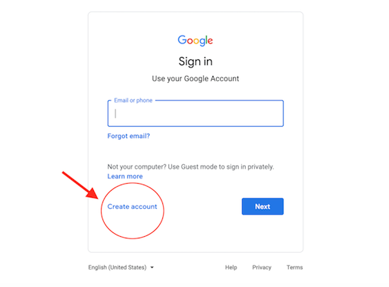 Creating a Google Business Account Image